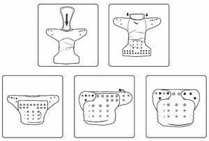 Image 2 - Pannolini riutilizzabili per pannolini di stoffa per bambini LilBit confezione da 6 pezzi