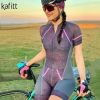 Kafitt pro camisa de ciclismo de manga curta das mulheres terno da bicicleta de estrada roupas esportivas macacão de corrida uniforme bib shorts ciclismo 6