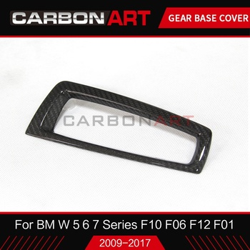 For BMW 5 SERIES 6 7 series speed gear shift knob base cover trims carbon fiber F10 F06 F12 F18 F01 F02 shift knob head cover