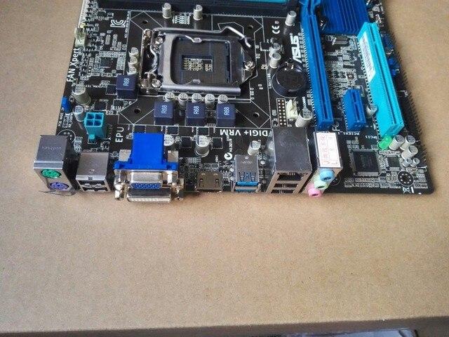 Verwendet Asus B75M-PLUS Original Verwendet Desktop-Motherboard Intel B75 Sockel LGA 1155 i3 i5 i7 DDR3 32G SATA3 USB 3,0