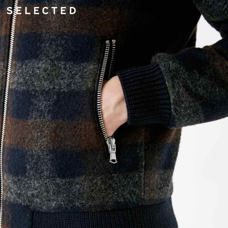 選択新ウールブレンドコート冬の格子縞のカジュアルな服装の男性のジャケット S | 418427550