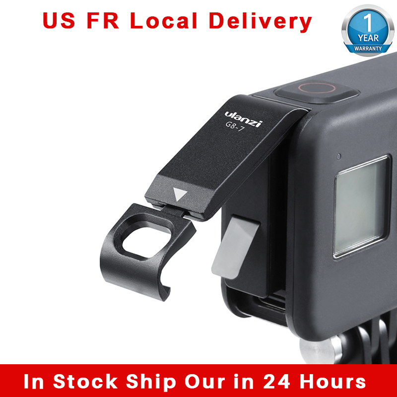 Ulanzi G8 7 Gopro 8 Battery Cover Removable Type C Charging Port Adapter Gopro 8 52MM Filter Adapter Sports Camcorder Cases  - AliExpress