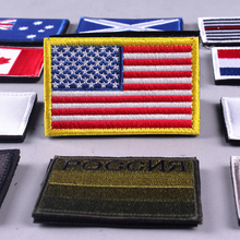 Pulaqi Embroidered Hook Patches For Clothing Flag Military Morale Velcro Patch 3D Tactical Army Uniform Badges Stripes Applique pulaqi camo seal team velcros patch army military magic patch stripes fabric navy seals patches for clothing badges appliques