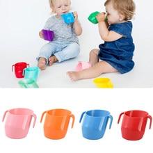 Bebê isolamento boca oblíqua copo leakproof infantil aprendizagem copos bebendo copo inclinado anti-queda bebê beber copo trainning