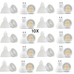 10x Dimmable LED Lamp GU10 LED Bulb Spotlight 7W 220V MR16 GU5.3 COB Chip 30 Degree Beam Angle For Home Office Decor Lamp Light