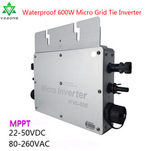цена на 600W Waterproof Micro inverter Solar On Grid Tie Inverter Convertor MPPT Inversor 22-50VDC to 110V/220VAC For Home Solar Panels