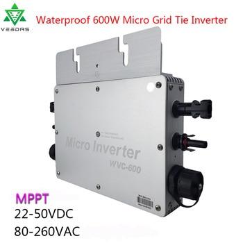 цена на 600W Waterproof Micro inverter Solar On Grid Tie Inverter Convertor MPPT Inversor 22-50VDC to 110V/220VAC For Home Solar Panels