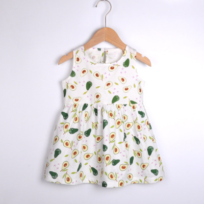 VIDMID baby girls summer short sleeve dresses cotton clothes folwers dresses kids girls casual dresses children clothing 7119 01 4