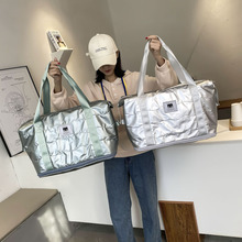 Space Cotton Travel Bag Adjustable Fashion Cabin Tote Bag Handbag Carry On Luggage Waterproof Fitness Shoulder Bag For Women