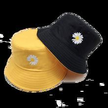 Шляпа ведро с вышивкой унисекс складная двухсторонняя уличная
