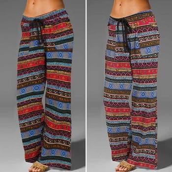 2020 Long Pants Celmia Linen Vintage Trousers Celmia Women's Fashion Casual Kaftan Printed Plus Size Pant Loose Palazzo Pantalon фото