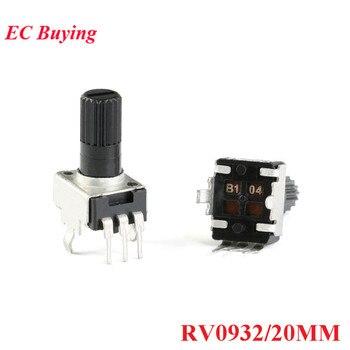 10pcs RV0932 Potenciômetro Ajustável Alça 20 MM Eixo Redondo 1 K/102 5 K/502 10K /103 50 K/503 100 K/104 WH09 0932 20 MM