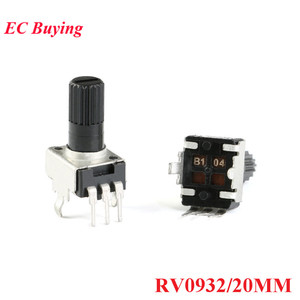 10pcs RV0932 Potentiometer Adjustable Handle 20MM Round Shaft 1K/102 5K/502 10K/103 50K/503 100K/104 WH09 0932 20 MM(China)