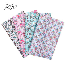 JOJO BOWS 22*30cm 1pc Synthetic Leather Fabric For Crafts Mermaid Printed Faux Sheet For Needlework Bag Apparel Sewing Materials jojo bows 22 30cm 1pc synthetic leather fabric for crafts mermaid printed faux sheet for needlework bag apparel sewing materials