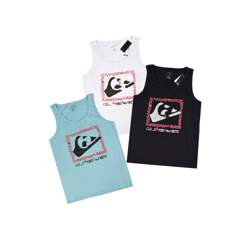 Men's Black White Skateboard Surf Tank Beach Gym Fitness Youth Singlet Blue Black Homme Hip Hop Street Jersey  Workout Vest