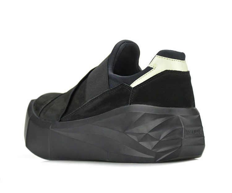 Avrupa amerika birleşik devletleri casual retro erkek artan tembel ayakkabı bir pedal kalın alt ayak kol deri ayakkabı