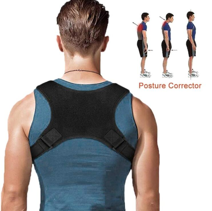 Adjustable Back Posture Corrector Clavicle Spine Back Shoulder Lumbar Brace Support Belt Posture Correction Massage BeltTool