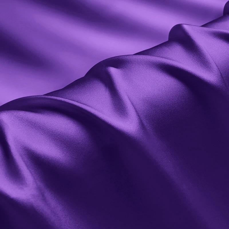 1000M158 45 Wide 100/% Silk Charmeuse Amethyst Purple By the Yard