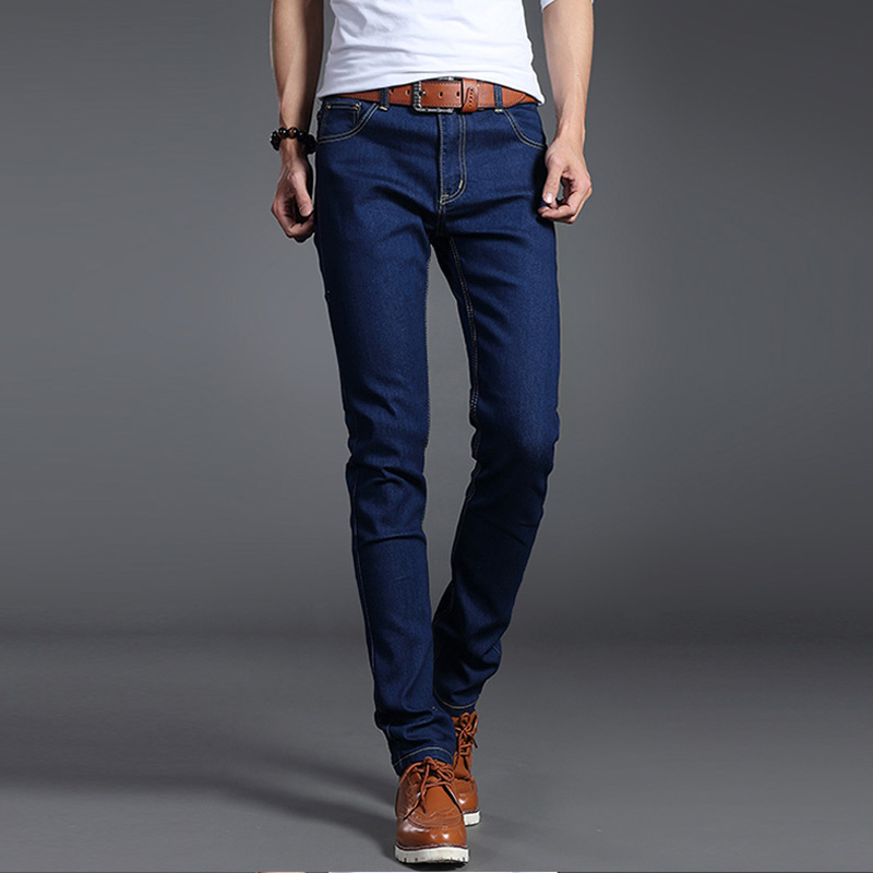 Jeans Men Stretch Solid Black Blue Skinny Slim Fit 2019 Spring And Summer Casual Pants Denim Male Trousers Cowboys Jeans Hombre
