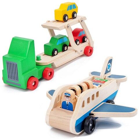 transporte de madeira brinquedos 3 6 9 meses brinquedos educativos para criancas modelo de aeronaves