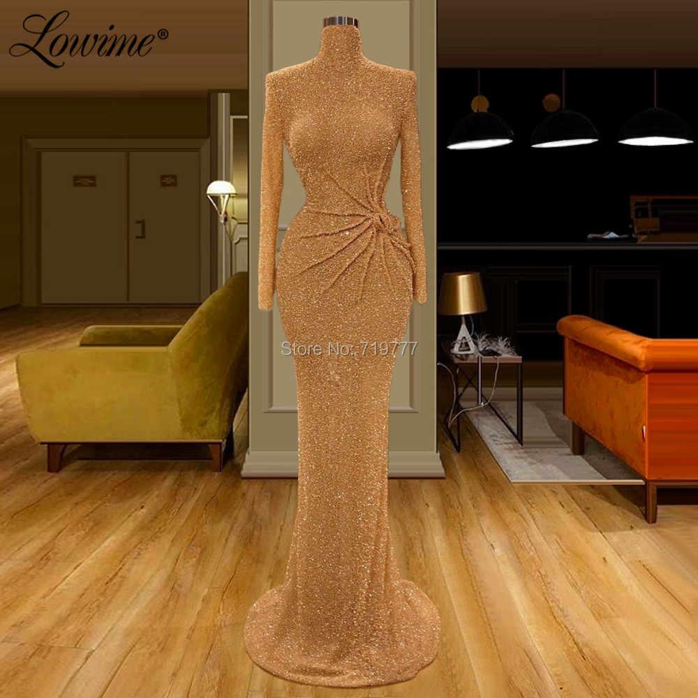 gold party kleid elegante abendkleider dubai türkische
