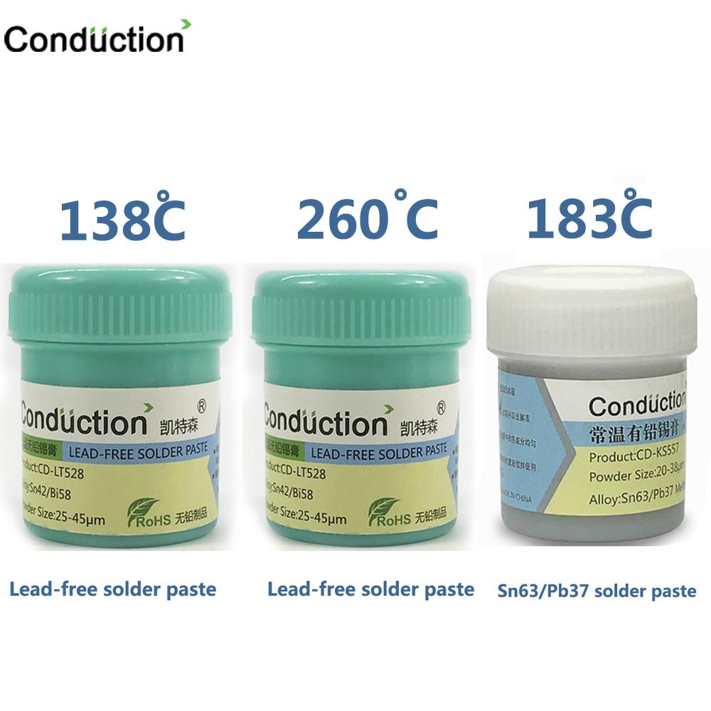 Lead-free Solder Paste Maintenance Soldering Tin For IPhone BGA  138 183 260 Degrees Environmental Protection Tin Mud CPU Tin30g
