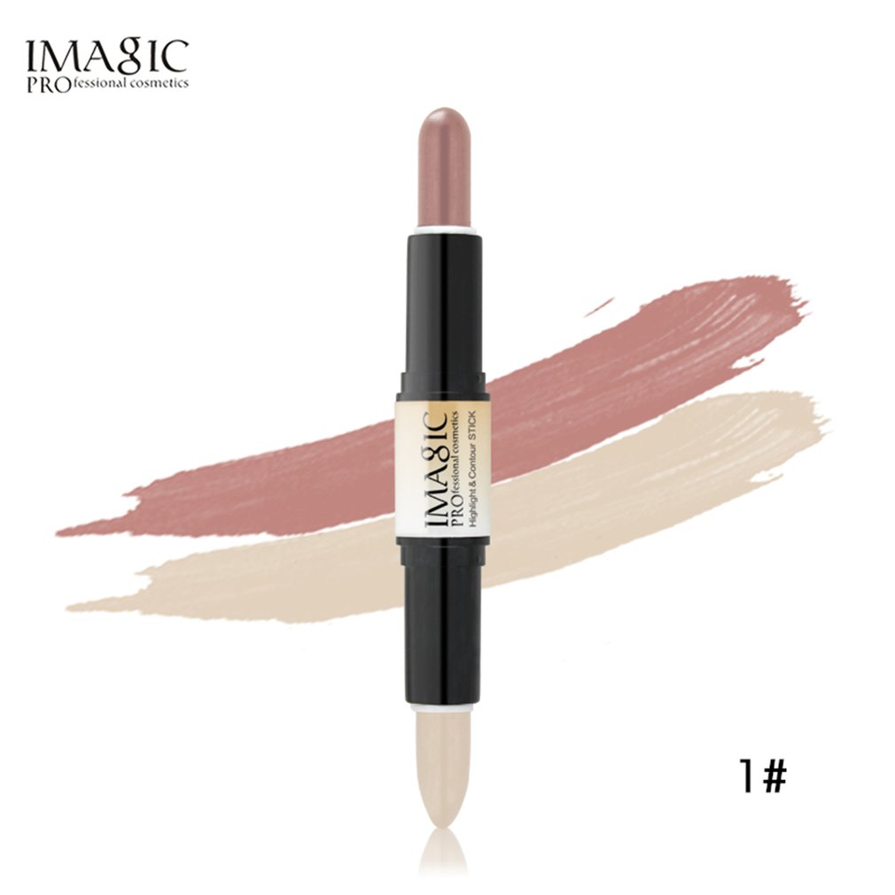 FA108 Double-ended 2 In 1 Contour Stick Makeup Creamy Highlighter Bronzer Create 3D Face Make Up Concealer Full Cover Blemish