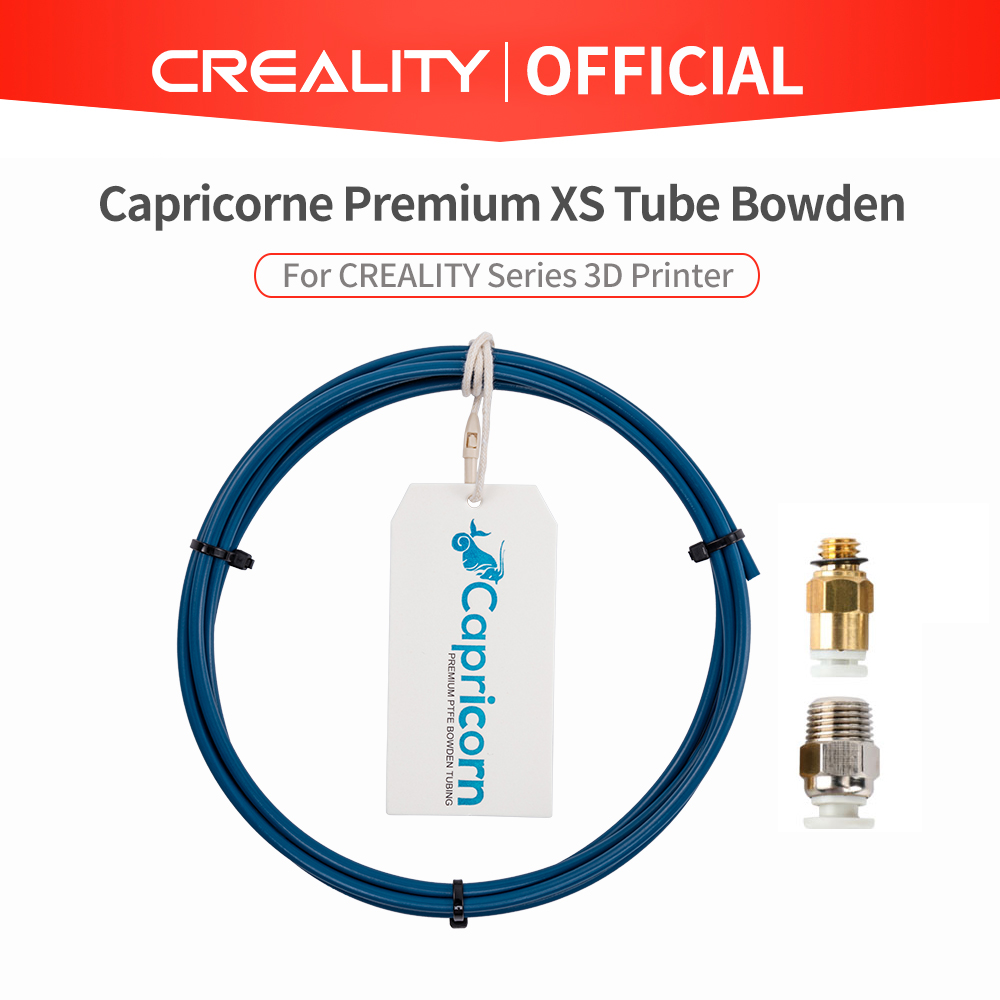 Capricorn Bowden PTFE Tubing XS Series 1M 1Pcs Quick Fitting   1Pcs Straight Pneumatic Fitting Push to Connect for 3D Printer