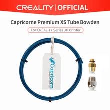 Capricorn-Tubo Bowden XS Series em PTFE para impressoras 3D, 1 metro + 1 peça de conexão rápida + aperto de encaixe pneumático reto para conectar