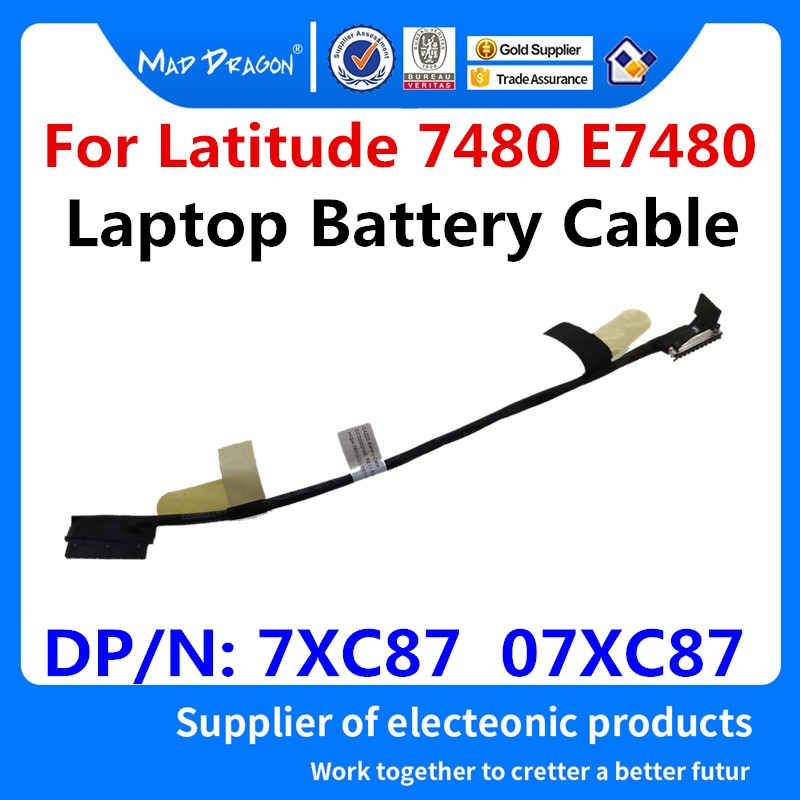 MAD DRAGON Brand laptop new Battery Cable Battery Wire For <font><b>Dell</b></font> <font><b>Latitude</b></font> <font><b>7480</b></font> E7480 CAZ20 DC02002NI00 7XC87 07XC87 0 7XC87 image