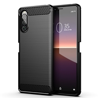 Case for Sony Xperia 10 II 2 generation with 2020, carbon series Black from caseport