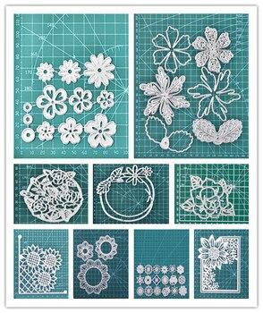 YaMinSanNiO 6pcs/set Flower Series Metal Cutting Dies for DIY Scrapbooking Album Paper Card Decor New 2020