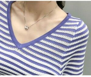 Image 5 - ฤดูใบไม้ร่วงแขนยาวเสื้อกันหนาวผู้หญิงเสื้อกันหนาวแฟชั่นผู้หญิง2020 Vคอเสื้อผู้หญิงPulloverเสื้อกันหนาวผู้หญิงD501