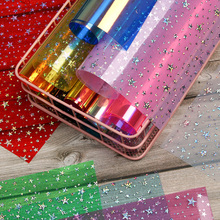 Fabric Transparent Hairbow-Accessories Materials Party-Decor Synthetic-Leather DIY Glitter