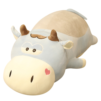 Large Size Lying Cows Plush Toy Stuffed Animal Cattle Kid Toys For Children Soft Pillow Cushion Cartoon Birthday Present large soft unicorn animal plush toy cartoon horse stuffed toy girl gift children s toy sofa pillow cushion baby accompany toy