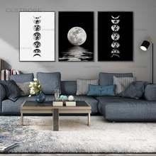 Картины на холсте с изображением лунного затмения полная луна
