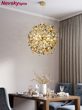 Pendant Light stainless steel Shade Dining room led pendant lamps foyer modern golden lighting restaurant silver living Fixtures