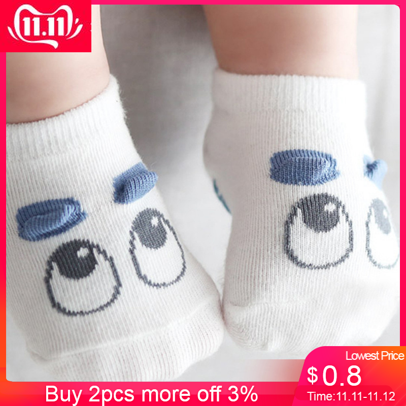 COMFY KIDS Clothes Hot Selling Summer Spring Baby Infant Socks Newborn Cotton Boys Girls Cute Cartoon Toddler Anti-slip Socks