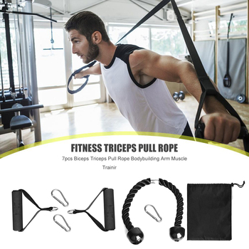 GRT Fitness 7pcs-Muscle-Strength-Training-Attachment-Biceps-Triceps-Pull-Rope-Home-Gym-Exercise-Workout-Fitness-Equipment.jpg_350x350 On Sale