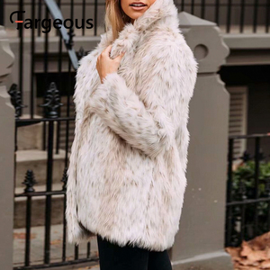 Image 2 - Leopard Luxus Faux Pelzmantel Jacke 2019 Winter Warm Langen Fell Flauschigen Teddy Jacke Mode Streetwear Shaggy Mantel Oberbekleidung
