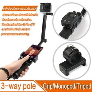 Image 2 - ل GoPro Monopod للطي 3 طريقة Monopod جبل كاميرا قبضة تمديد الذراع ترايبود حامل ل Gopro بطل 9 8 7 6 5 4 3 3 SJ4000