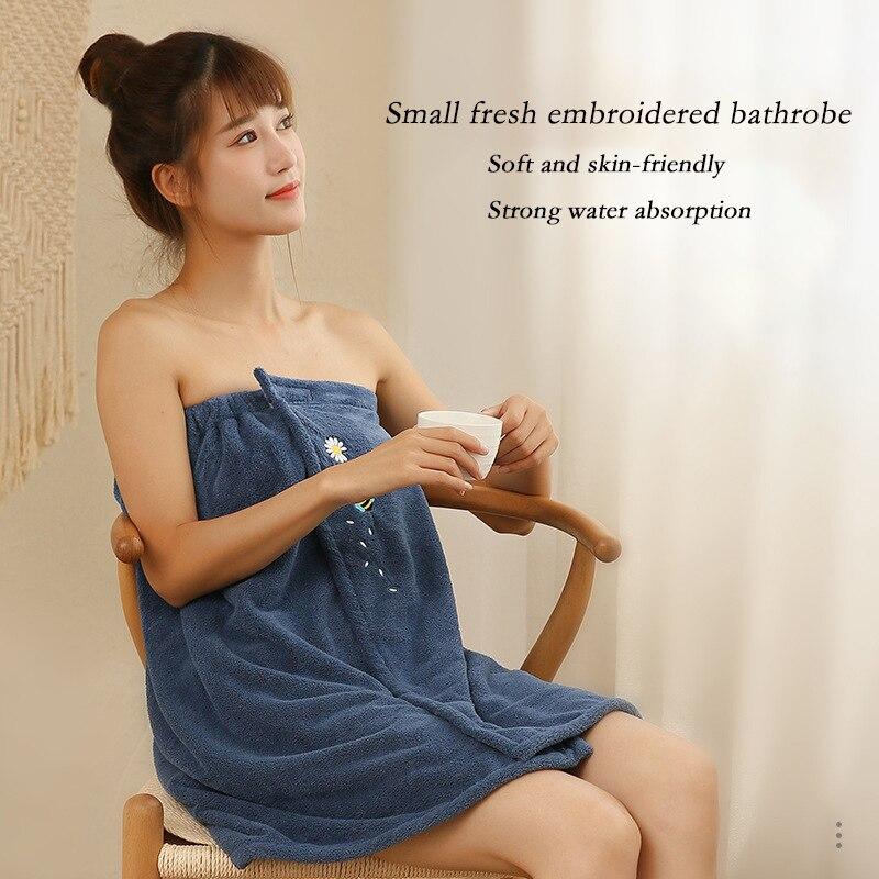Microfiber Bathrobe Woman Shower Female Soft Bath Towel for Adults for Home Textiles Bath and Sauna Towels Bathroom Quick Drying