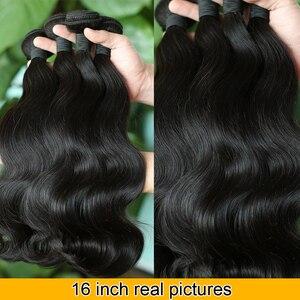 Image 2 - Indisches Haar Körper Welle Bundles 100% Menschliches Haar Bundles Webart Indische Körper Welle Remy Haar Extensions Weave 8 28 zoll QT Haar