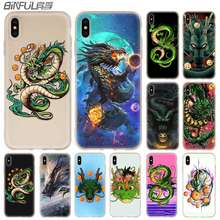Chinese Dragon Cover Baseus Clear Case Silicone soft for iPhone X 11 Pro XS Max XR 6 7 8 Plus 5 4 S Cases Funda(China)