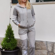 Hooded-Jacket Trousers Two-Piece suit Autumn Sports Winter Fashion Women's for New And