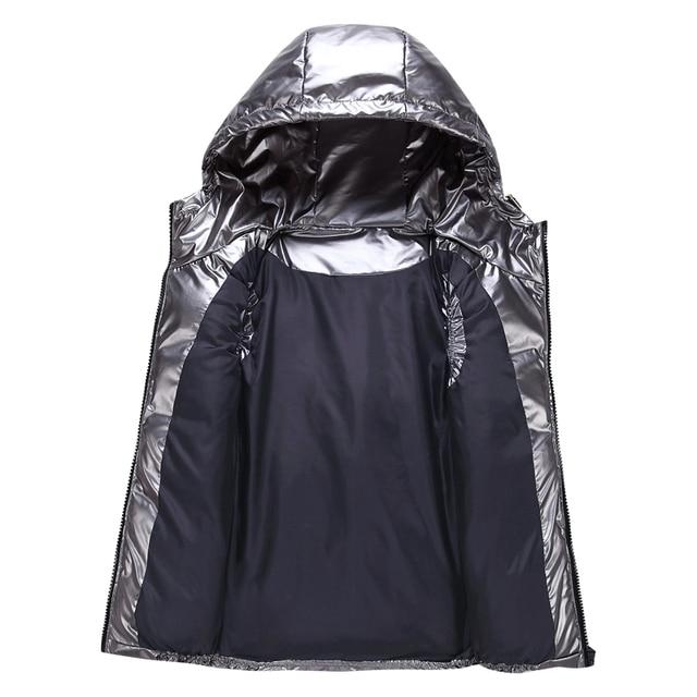 Women Winter Vests Hooded 2020 New Short Bright Color Vest Cotton Padded Jacket Sleeveless Female Winter Waistcoat Vest 4