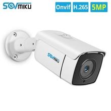 H.265 ip poe câmera de segurança áudio 5mp 3mp metal à prova dwaterproof água poe onvif bala movimento dectection ao ar livre cctv câmera de vigilância