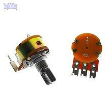 5 шт.; Лидер продаж; Новый одинарный потенциометр WH148 15 мм B5K B10K B20K B50K B100K B500K в красный горошек с выключателем для ламповый усилитель аудио 100K 50K