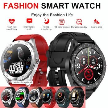 Heart rate sleep alarm clock stopwatch information call reminder IP68 Waterproof Smart bracelet pressure health measurement man