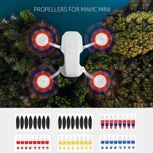 Hélices dobráveis para drone dji mavic mini, 8 peças, lançamento rápido, acessórios para drone dji mavic
